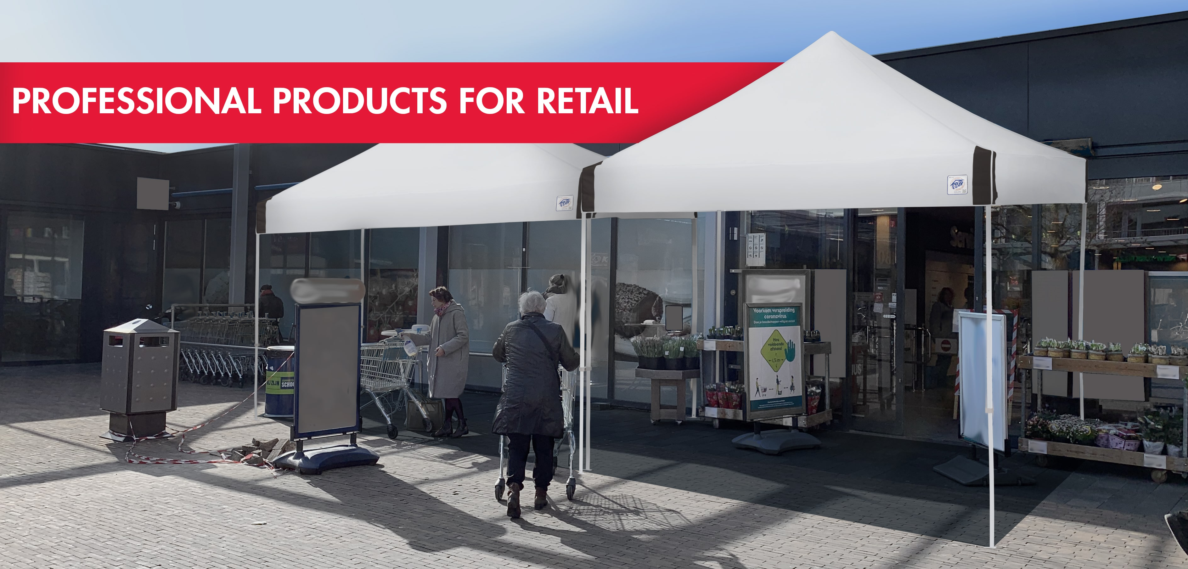 Professional products for retail