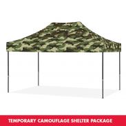 Eclipse™ camouflage shelter 3 x 4,5 m