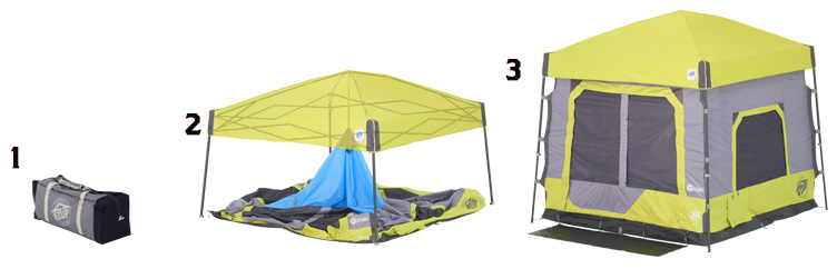Camping Cube™ Sets Up In Seconds™